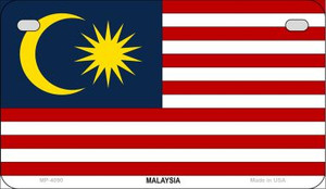 Malaysia Flag Wholesale Novelty Motorcycle Plate MP-4090
