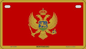 Montenegro Flag Wholesale Novelty Motorcycle Plate MP-4099