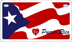 I Love Puerto Rico Flag Wholesale Novelty Motorcycle Plate MP-468