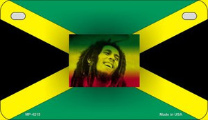 Jamaica / Bob Marley Flag Wholesale Novelty Motorcycle Plate MP-4215