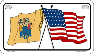 New Jersey / USA Flag Wholesale Novelty Motorcycle Plate MP-11490