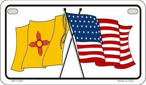 New Mexico / USA Flag Wholesale Novelty Motorcycle Plate MP-11491