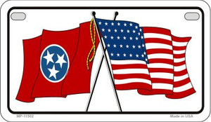 Tennessee / USA Flag Wholesale Novelty Motorcycle Plate MP-11502