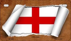 England Flag Scroll Wholesale Novelty Motorcycle Plate MP-9066