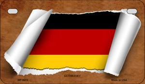 Germany Flag Scroll Wholesale Novelty Motorcycle Plate MP-9072