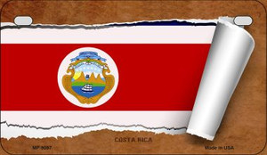 Costa Rica Flag Scroll Wholesale Novelty Motorcycle Plate MP-9097