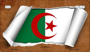 Algeria Flag Scroll Wholesale Novelty Motorcycle Plate MP-9118