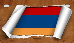 Armenia Flag Scroll Wholesale Novelty Motorcycle Plate MP-9126