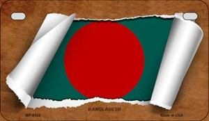 Bangladesh Flag Scroll Wholesale Novelty Motorcycle Plate MP-9133