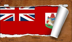 Bermuda Flag Scroll Wholesale Novelty Motorcycle Plate MP-9137