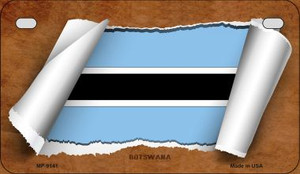 Botswana Flag Scroll Wholesale Novelty Motorcycle Plate MP-9141