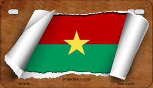 Burkina Faso Flag Scroll Wholesale Novelty Motorcycle Plate MP-9146