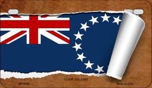 Cook Island Flag Scroll Wholesale Novelty Motorcycle Plate MP-9163