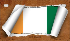 Cote D Ivoire Flag Scroll Wholesale Novelty Motorcycle Plate MP-9164