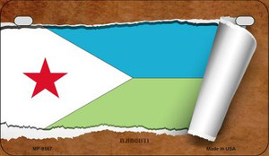 Djibouti Flag Scroll Wholesale Novelty Motorcycle Plate MP-9167