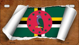Dominica Flag Scroll Wholesale Novelty Motorcycle Plate MP-9168