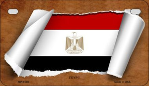 Egypt Flag Scroll Wholesale Novelty Motorcycle Plate MP-9170