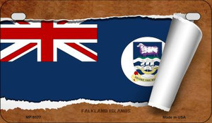Falkland Islands Flag Scroll Wholesale Novelty Motorcycle Plate MP-9177