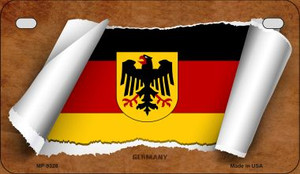 Germany Flag Scroll Wholesale Novelty Motorcycle Plate MP-9328
