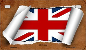 Britain Flag Scroll Wholesale Novelty Motorcycle Plate MP-9332
