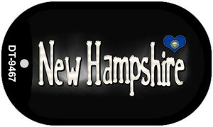 New Hampshire Flag Script Wholesale Novelty Dog Tag DT-9467