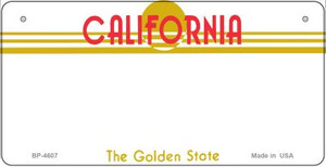 California Blank Background Wholesale Novelty Bicycle Plate BP-4607