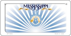 Mississippi Blank Background Wholesale Novelty Bicycle Plate BP-9504