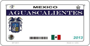 Aguascaliente Blank Background Wholesale Novelty Bicycle Plate BP-4811