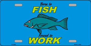 Born To Fish Wholesale Metal Novelty License Plate LP-3880