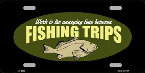 Fishing Trips Wholesale Metal Novelty License Plate LP-3884