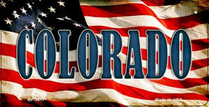 Colorado US Flag Wholesale Novelty Bicycle Plate BP-3617
