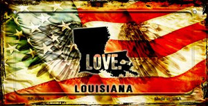 Louisiana Love & Wings Wholesale Novelty Bicycle Plate BP-8604
