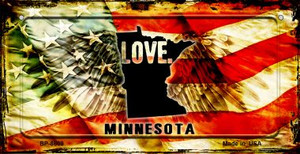 Minnesota Love & Wings Wholesale Novelty Bicycle Plate BP-8609