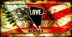 Nevada Love & Wings Wholesale Novelty Bicycle Plate BP-8614