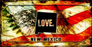 New Mexico Love & Wings Wholesale Novelty Bicycle Plate BP-8617