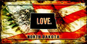 North Dakota Love & Wings Wholesale Novelty Bicycle Plate BP-8620