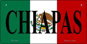 Chiapas Mexico Flag Wholesale Novelty Bicycle Plate BP-3430