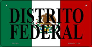 Distrito Federal Mexico Flag Wholesale Novelty Bicycle Plate BP-3451