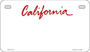 California Blank Background Wholesale Novelty Motorcycle Plate MP-2219