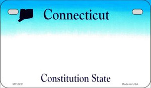 Connecticut Blank Background Wholesale Novelty Motorcycle Plate MP-2221