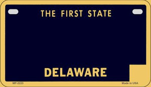 Delaware Blank Background Wholesale Novelty Motorcycle Plate MP-2223