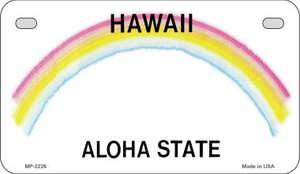 Hawaii Blank Background Wholesale Novelty Motorcycle Plate MP-2226