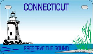 Connecticut Blank Background Wholesale Novelty Motorcycle Plate MP-1518