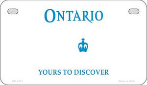 Ontario Canada Blank Background Wholesale Novelty Motorcycle Plate MP-1471