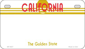 California Blank Background Wholesale Novelty Motorcycle Plate MP-4607