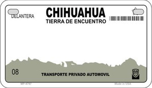 Chihuahua Blank Background Wholesale Novelty Motorcycle Plate MP-4797