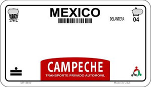Campeche Blank Background Wholesale Novelty Motorcycle Plate MP-4809