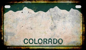 Colorado Rusty Blank Background Wholesale Novelty Motorcycle Plate MP-8122