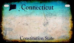 Connecticut Rusty Blank Background Wholesale Novelty Motorcycle Plate MP-8123
