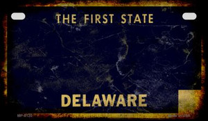 Delaware Rusty Blank Background Wholesale Novelty Motorcycle Plate MP-8125